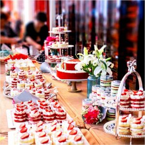 Dessert Stand at a buffet | Healthy Eating